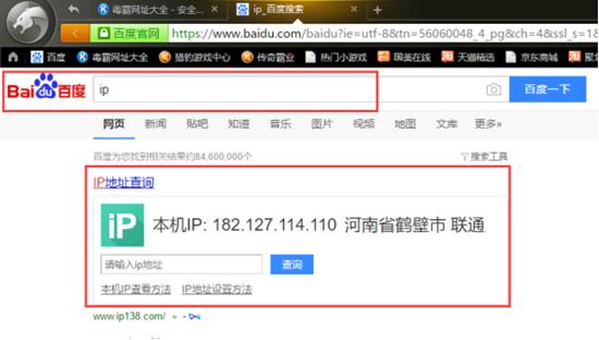 猎豹浏览器设置代理IP-IP地址查询