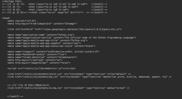 抓取网页代码的运行结果