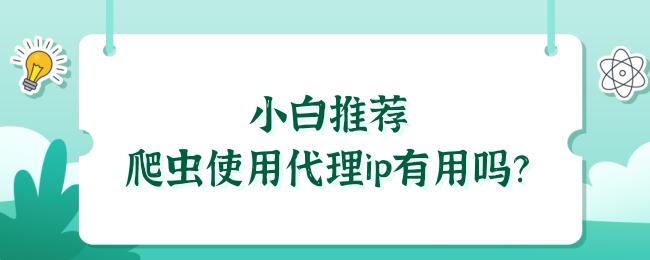 小白推荐爬虫使用代理ip有用吗?.png