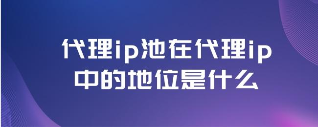 代理ip池在代理ip中的地位是什么.jpg