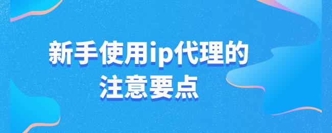 新手使用ip代理的注意要点.png