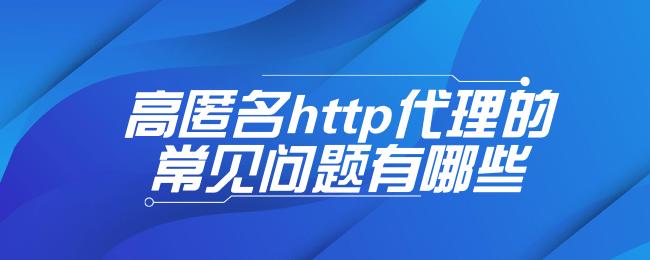高匿名http代理的常见问题有哪些.png