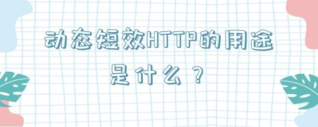 动态短效HTTP的用途是什么?.jpg