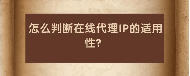 怎么判断在线代理IP的适用性?.jpg